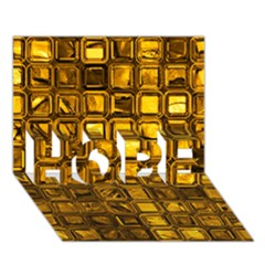Glossy Tiles, Golden Hope 3d Greeting Card (7x5)