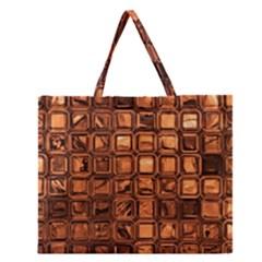 Glossy Tiles, Terra Zipper Large Tote Bag