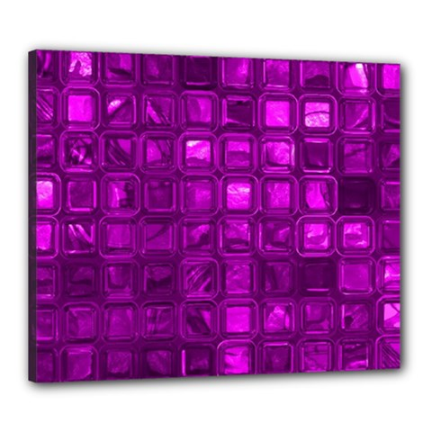 Glossy Tiles,purple Canvas 24  X 20  by MoreColorsinLife