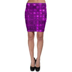 Glossy Tiles,purple Bodycon Skirts by MoreColorsinLife