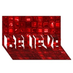 Glossy Tiles,red Believe 3d Greeting Card (8x4)