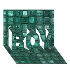 Glossy Tiles,teal Boy 3d Greeting Card (7x5) by MoreColorsinLife
