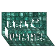 Glossy Tiles,teal Best Wish 3d Greeting Card (8x4)