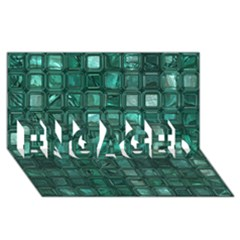 Glossy Tiles,teal Engaged 3d Greeting Card (8x4)