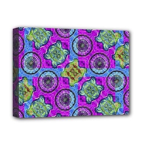 Collage Ornate Geometric Pattern Deluxe Canvas 16  X 12   by dflcprints