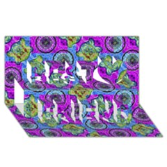 Collage Ornate Geometric Pattern Best Friends 3d Greeting Card (8x4)  by dflcprints