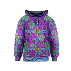 Collage Ornate Print Kids  Zipper Hoodie by dflcprintsclothing