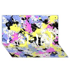 Abstract Sorry 3d Greeting Card (8x4)