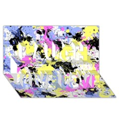 Abstract Laugh Live Love 3d Greeting Card (8x4)