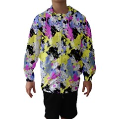 Abstract Hooded Wind Breaker (Kids) by Uniqued