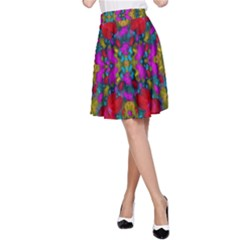 May Your Wonderful Dreams Come True In Fauna   A-Line Skirt by pepitasart