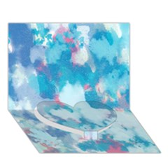 Abstract #2 Heart Bottom 3d Greeting Card (7x5)  by Uniqued