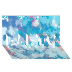 Abstract #2 Party 3d Greeting Card (8x4)