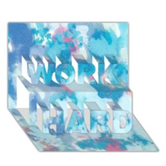 Abstract #2 Work Hard 3d Greeting Card (7x5)