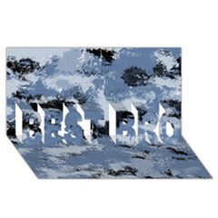 Abstract #3 Best Bro 3d Greeting Card (8x4)