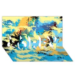 Abstract #4 Sorry 3d Greeting Card (8x4)