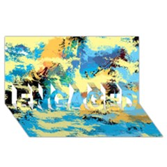Abstract #4 Engaged 3d Greeting Card (8x4)