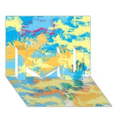 Abstract #5 I Love You 3d Greeting Card (7x5)