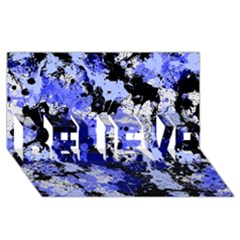 Abstract #7 Believe 3d Greeting Card (8x4)