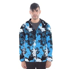 Abstract #8 Hooded Wind Breaker (men) by Uniqued