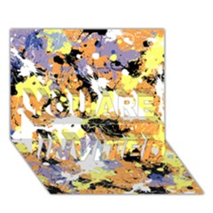 Abstract #9 You Are Invited 3d Greeting Card (7x5)