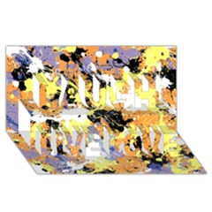 Abstract #10 Laugh Live Love 3d Greeting Card (8x4)