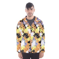 Abstract #10 Hooded Wind Breaker (men) by Uniqued
