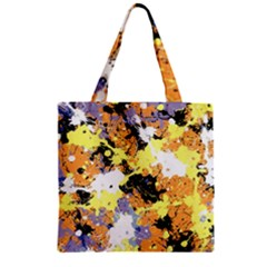 Abstract #10 Zipper Grocery Tote Bag