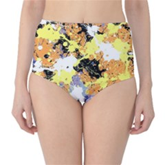 Abstract #10 High-Waist Bikini Bottoms by Uniqued