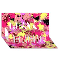 Abstract #11 Best Friends 3d Greeting Card (8x4)