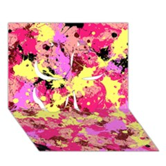 Abstract #11 Clover 3d Greeting Card (7x5)