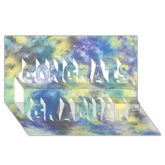 Abstract #17 Congrats Graduate 3d Greeting Card (8x4)