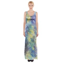 Abstract #17 Maxi Thigh Split Dress by Uniqued