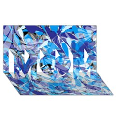 Abstract Floral Mom 3d Greeting Card (8x4)