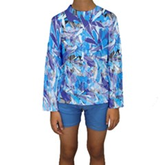 Abstract Floral Kid s Long Sleeve Swimwear