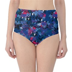 Abstract Floral #3 High Waist Bikini Bottoms by Uniqued