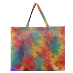 Abstract Elephant Zipper Large Tote Bag