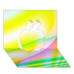 New 4 Apple 3d Greeting Card (7x5)  by timelessartoncanvas