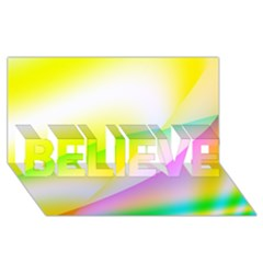 New 4 Believe 3d Greeting Card (8x4)  by timelessartoncanvas