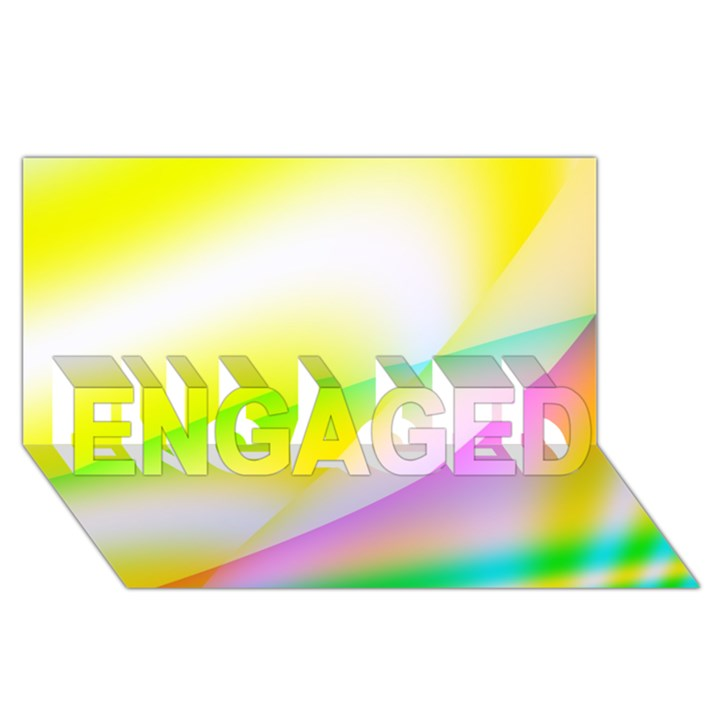 New 4 ENGAGED 3D Greeting Card (8x4)