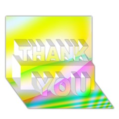 New 4 Thank You 3d Greeting Card (7x5)  by timelessartoncanvas
