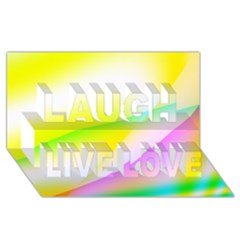 New 4 Laugh Live Love 3d Greeting Card (8x4)  by timelessartoncanvas