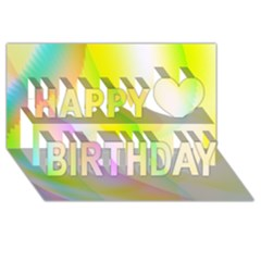 New 5 Happy Birthday 3d Greeting Card (8x4)  by timelessartoncanvas