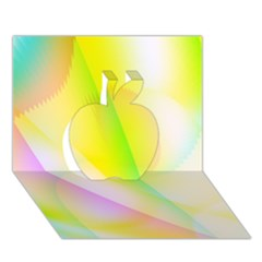 New 5 Apple 3d Greeting Card (7x5)  by timelessartoncanvas