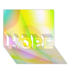 New 5 Hope 3d Greeting Card (7x5)