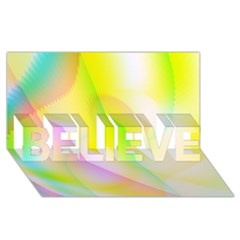 New 5 Believe 3d Greeting Card (8x4)  by timelessartoncanvas