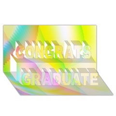 New 5 Congrats Graduate 3d Greeting Card (8x4)  by timelessartoncanvas