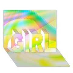 New 6 Girl 3d Greeting Card (7x5)