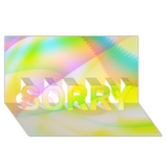 New 6 Sorry 3d Greeting Card (8x4)  by timelessartoncanvas