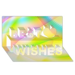 New 6 Best Wish 3d Greeting Card (8x4)  by timelessartoncanvas